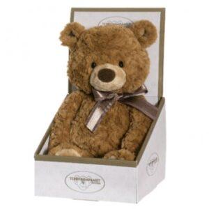 Teddybjörn i presentkartong. Skicka den via Florister i Sverige till någon du gillar!